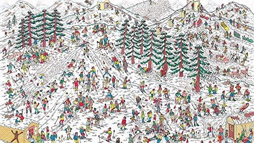 classement un comparer HJHJHJ Puzzle 500 pièces Puzzle en bois Ski Area Foule Famille Décoration Cadeau…