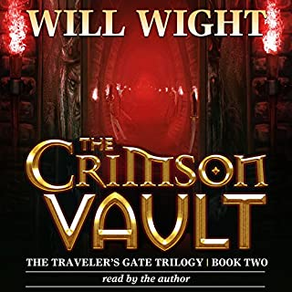 The Crimson Vault     The Traveler's Gate Trilogy, Volume 2              By:                                                                                                                                 Will Wight                               Narrated by:                                                                                                                                 Will Wight                      Length: 14 hrs and 49 mins     410 ratings     Overall 4.6