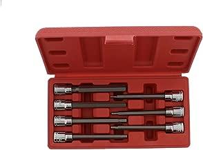 ABN Extra-Long Metric Socket 7-Piece Set, 3/8in Drive – 3mm, 4mm, 5mm, 6mm, 7mm, 8mm, 10mm CR-V Sockets, S2 Hex Bits
