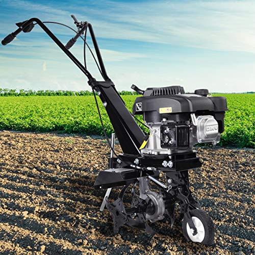 BRAST Benzin Motorhacke 4,4kW(6PS) mit 36cm Arbeitsbreite Ackerfräse Gartenfräse Bodenfräse Kultivator
