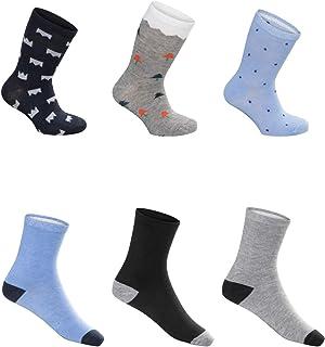 SG-WEAR, 12 pares de calcetines para niños para Chico con un alto contenido de algodón Calcetines de deporte coloridos en varios motivos/medias en tallas 23-26, 27-30, 31-34, 35-38