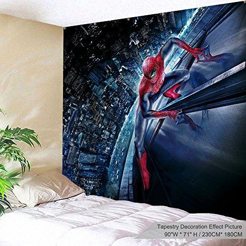XINYI - Tapiz para colgar en la pared o en la pared (tejido de poliéster, diseño de galaxia, decoración para la pared para dormitorio, dormitorio, sala de estar, uñas incluidas)