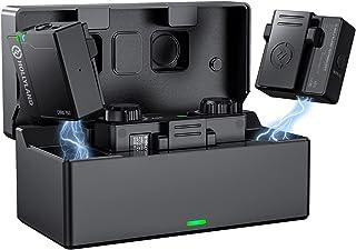 Hollyland Lark 150 ワイヤレスマイクシステム スマホ外付けマイク 内蔵/外部全方向マイク付属 収納充電ケース付き 100M伝送距離 3S自動ペアリング スマホ、カメラ、PC、タブレット、レコーダーなどに対応【技適マーク付き】