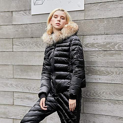 ski pak JSGJHXF2019 Nieuwe Vrouwen Winter Pak Sneeuw Jas Broek Bright Lederen Vrouwen Ski Pak Outdoor Winter dikke warme ski Kleding