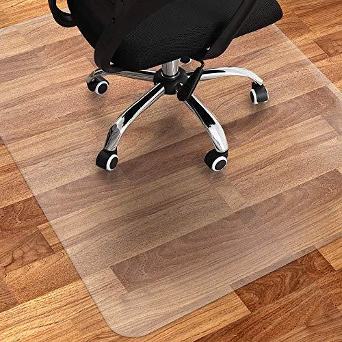 ZaxiDeel Bodenschutzmatte Bürostuhl Transparent Rechteckig | 120 x 90 cm | Büro oder Arbeitszimmer Schreibtisch Unterlage