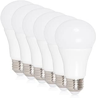 Maxxima LED A19-800 Lumens 60 Watt Equivalent Daylight Cool White (5000K) Light Bulb, 10 Watts (Pack of 6)