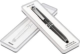 RISEMART 3-in-1 Functional Stylus, LED Flashlight, Ballpoint Pen, Stylus Pen for Touchscreen Devices, Multi-Function Capacitive Pen with White LED Flashlight, 1.0mm Black Ink