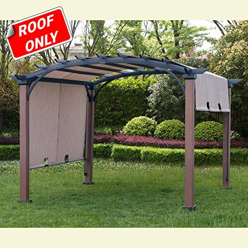 Sunjoy 110109021 Original Replacement Canopy for A+R Woodgrain Pergola (10X10 Ft) L-PG152PST-B Sold at Lowe's, Sesame