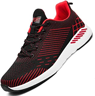 13146abcb2956 Mosunx Athletic Men's Non Slip Breathable Sneakers, Boys Summer Lightweight  Mesh Woven Lace Up Sport Running Shoes Stripe Trail Walking Shoes ...