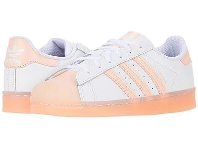 adidas Originals Kids Superstar (Little Kid) (Footwear White/Haze Coral/Footwear White) Girls Shoes