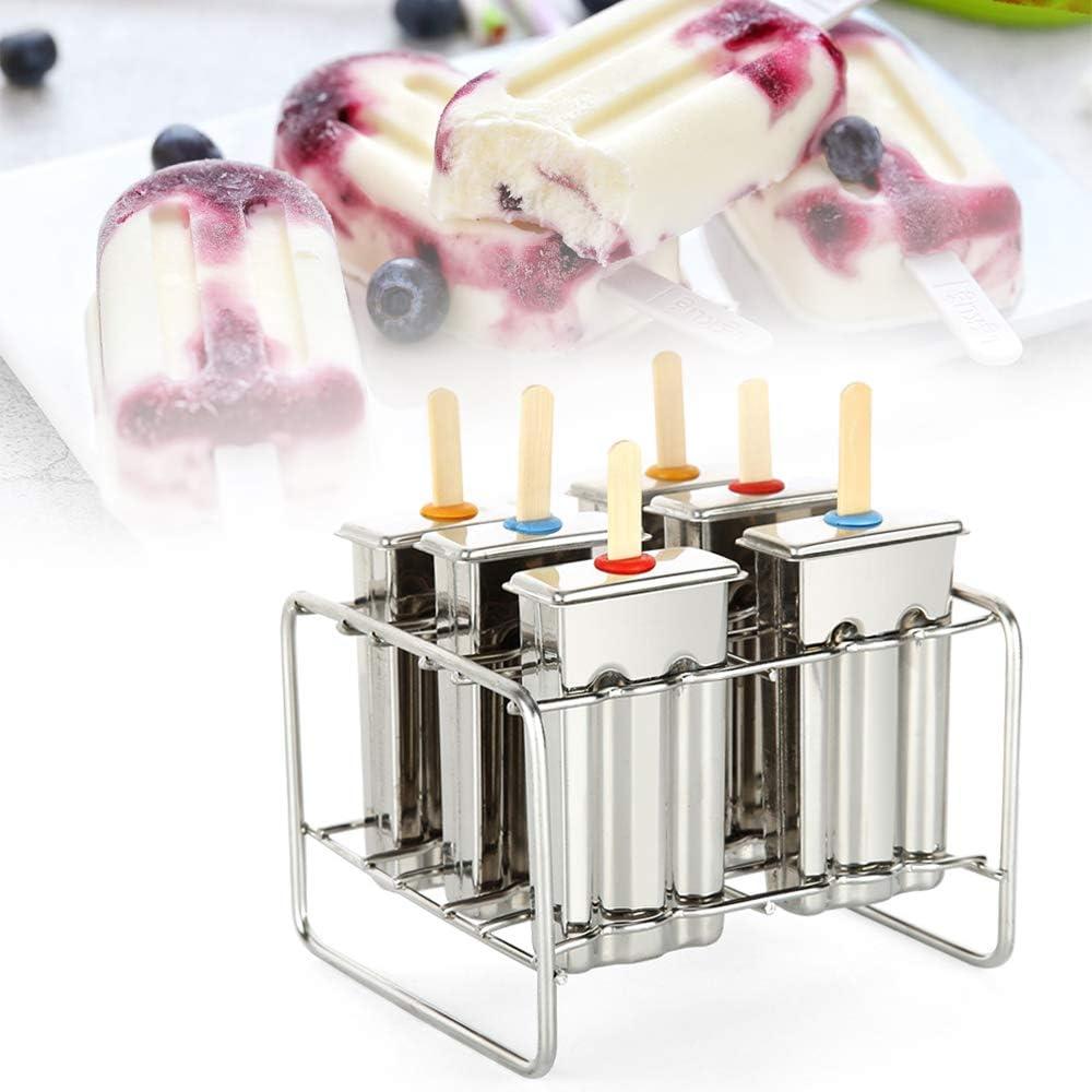 TFCFL sale 6 Pcs OFFicial site Stainless Steel Molds Popsicle Ice Pop Cream Frozen