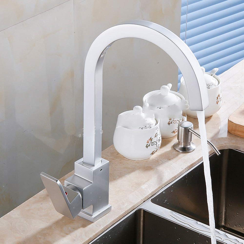 IFELGUD Square Space Aluminum kithen faucet Vegetable basin faucet hot&cold mixer tap crane torneira cozinha