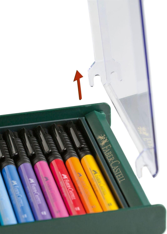 Faber-Castell 267422 - Tuschezeichner Pitt Artist Pen, 12-er Packung, erdfarben pastell