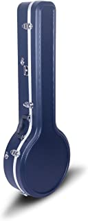 Crossrock CRA860BJBL ABS Molded Hardshell Banjo Case,Backpack Style, For 5-string Resonator/Gibson Tenor Banjo, Dark Blue