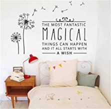 Wall Sticker Decal Mural Window Vinyl Decal Quote Art The Most Fantastic Magical Things can Happen and it All Starts with a Wish