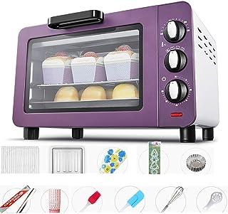 AFDK Mini Oven 15L, 46 piezas gratuitas de accesorios para hornear, Horno eléctrico con 4 tubos calefactores de acero inoxidable, Horno tostador con mango antideslizante de baja temperatura de 40 ℃,