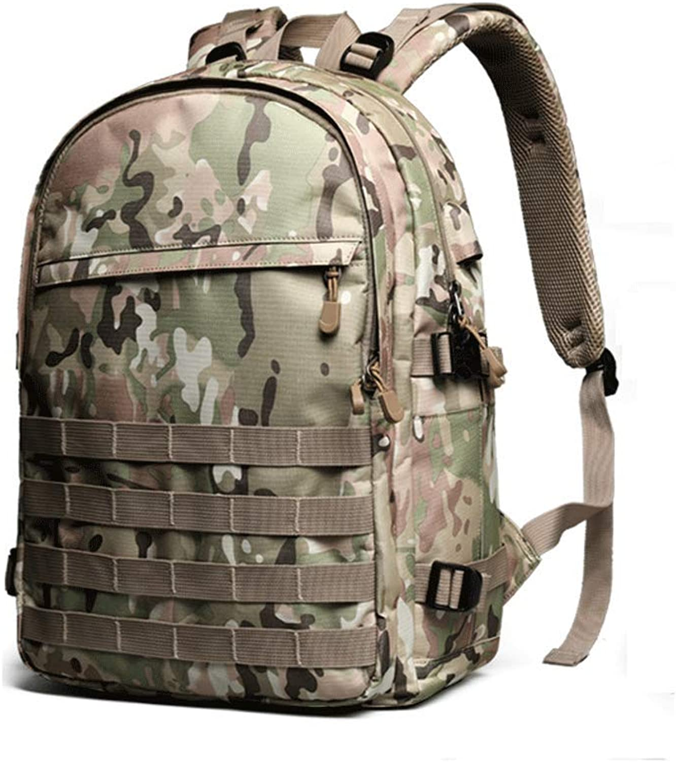 HZH Creative Camouflage Army Backpack Men's Backpack Travel Fashion Trends Junior High School Pupils