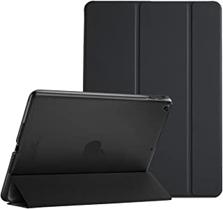 ProCase iPad 9.7 Case 2018 iPad 6th Generation Case/ 2017 iPad 5th Generation Case - Ultra Slim Lightweight Stand Case with Translucent Frosted Back Smart Cover for Apple iPad 9.7 Inch –Black