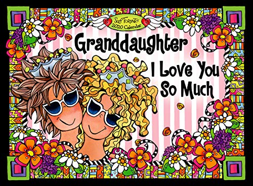 Blue Mountain Arts 2020 Calendar 'Granddaughter, I Love You So Much' 9 x 12 in. 12-Month Hanging Wall Calendar, Perfect for a Christmas or Birthday Gift from a Grandmother, by Suzy Toronto