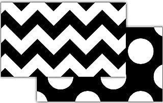 Teacher Created Resources 73174  Black & White Chevron Double-Sided Border
