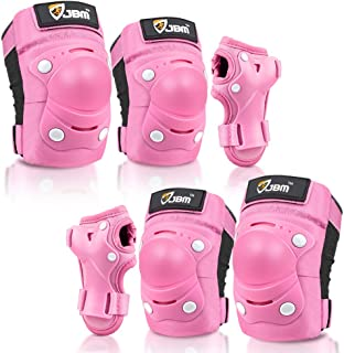 JBM Kids / Child Knee Pads and Elbow Pads with Wrist Guards 3 in 1 Protective Gear Set for Roller Skating Cycling BMX Bike...
