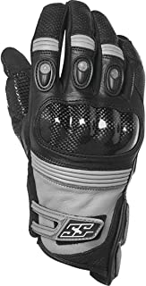 Speed and Strength Exile Leather Men's Street Motorcycle Gloves - Black/Medium