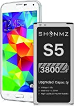 [3800mAh] Galaxy S5 Battery, SHENMZ New Upgrade Li-ion...