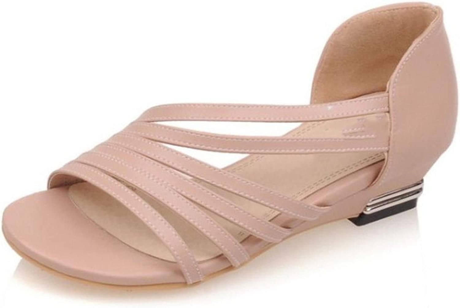 Fairly Flats Peep Toe shoes Cross Strap Solid color All Match Flat Vintage s,Ivory,3