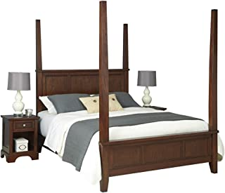 Chesapeake Classic Cherry King Poster Bed and Two Night Stands by Home Styles