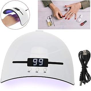 Zouminyy Lámpara de secador de uñas, secador de uñas profesional 36W Gel de blanqueamiento de uñas Herramienta de manicura de curado de esmalte de gel