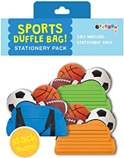 iscream Duffle Bag Stack and Send Creative Stationery Sheets with 12 Mailers