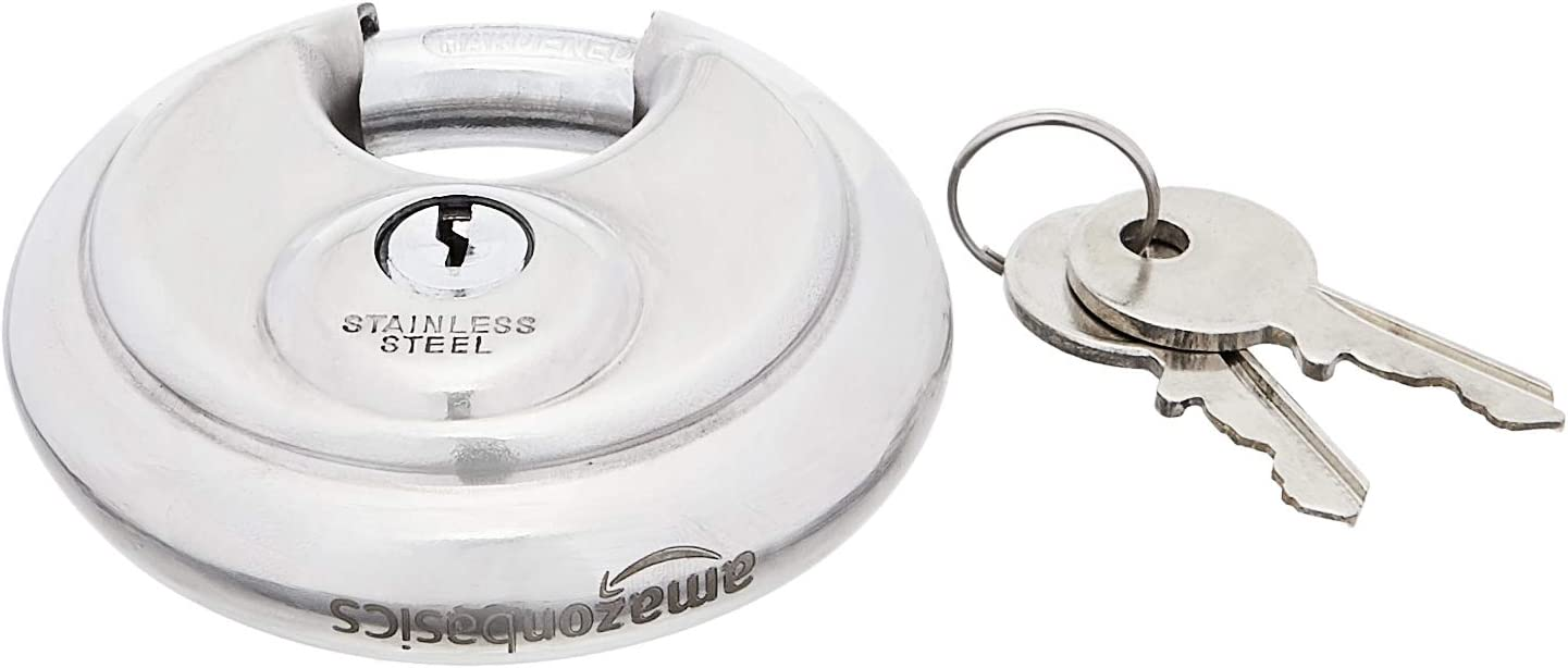 Amazon Basics Trust 2-3 4-inch Keyed Steel Discus 2-Pack ! Super beauty product restock quality top! Padlock
