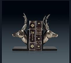 XINHU European Cold Cast Copper Retro Herten Head Boek door boekensteunen Living Room Study Creative Decor van het Huis Or...