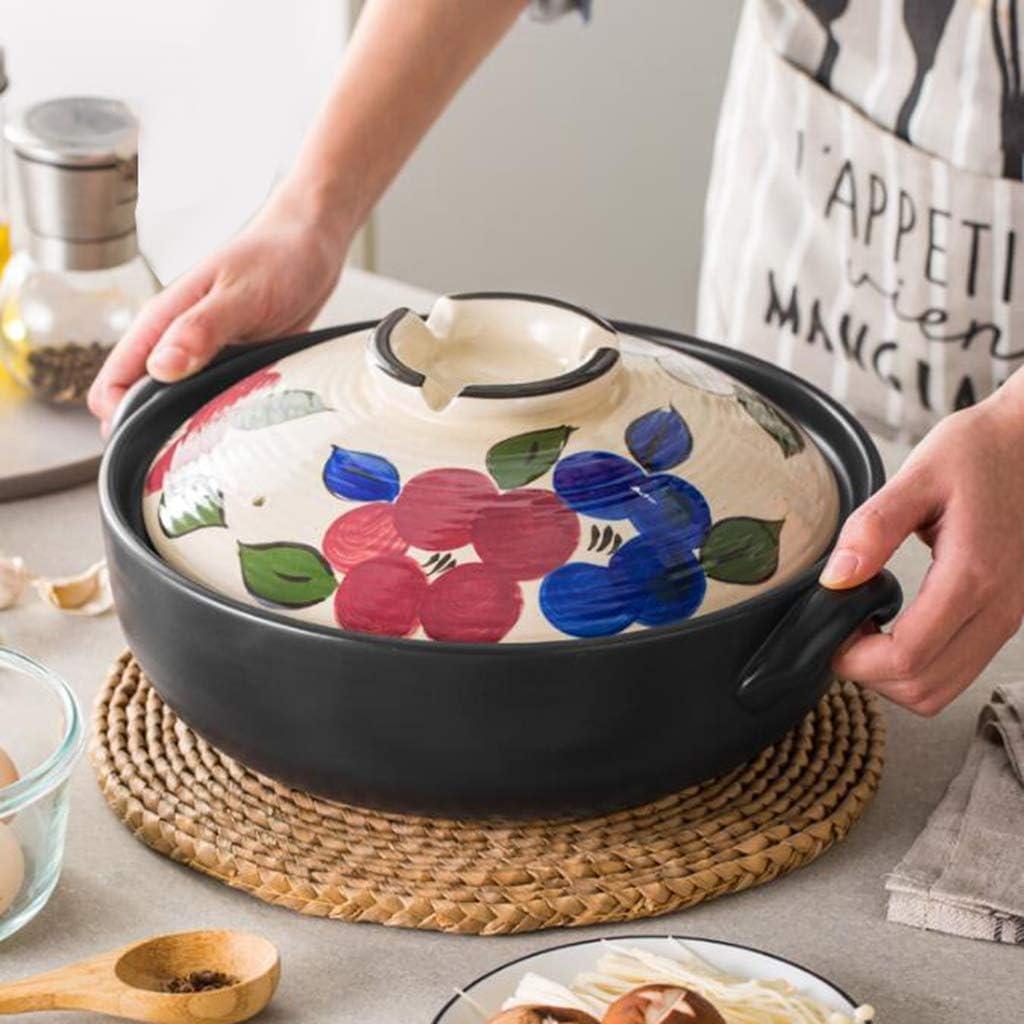 ZZFF Donabe Japanese Ceramic Hot Round 全品送料無料 Pot Covered 公式通販 Cas Casserole