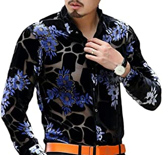 EKU Mens Hipster Hip Hop Longline Ripped Long Sleeve T-Shirt US M Deep Gray