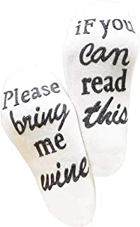 ESHOOIF YOU CAN READ THIS BRING ME WINE//Beer Unisexe Chaussettes Basses Cheville Chaussettes Homme Femme