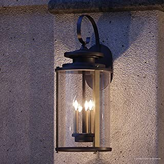 Luxury Rustic Outdoor Wall Light, Large Size: 22.75