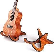 Aroma Support de sol en aluminium BLUE AGS8 r/églable pour tous les types de guitares et de basses pliable pour faciliter la s/écurit/é de la protection stable