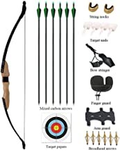 Vogbel Archery Takedown Recurve Bow and Arrow Set 30lb 40lb Right Hand Longbow Kit for Adult Youth Junior Beginner Outdoor Hunting Shooting Training Practice