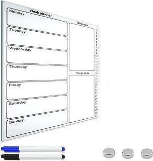 1x 2020 Monatliche Memoboard Wandkalender Familie Planer Weiße Tafel mit Stift