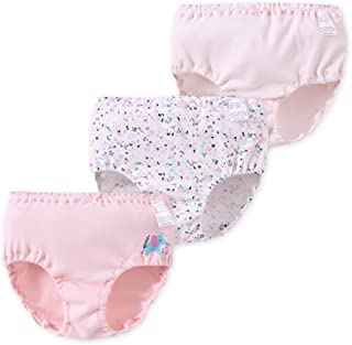 JanLEESi Baby Girl Underwear Panties 3-Pack Toddler Cotton Training Pants,2-4 Years