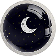 Ladegrepen Kabinetknoppen Rond Pack van 4 voor kast, lade, borst, dressoir etc - Moon Stars Sweet Dreams