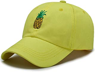 MKJNBH Fruit Pineapple Hat Outdoor Solid Embroidery Baseball Cap Men Women Casual Streetwear Hip Hop