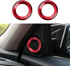 CKE Civic Aluminum Alloy Interior Door Audio Speaker Ring Cover Trim for 10th Gen Honda Civic 2020 2019 2018 2017 2016-Red