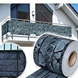 HG® 65mx19cm Sichtschutzstreifen Zaunblende Folie PVC Streifen Sonnenschutz Sichtschutzstreifen für doppelstabmatten