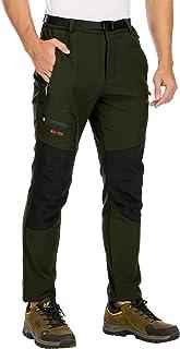DAFENP Pantalones Trekking Hombre Impermeables Pantalones de Trabajo Termicos Montaña Senderismo Esqui Snowboard Invierno ...