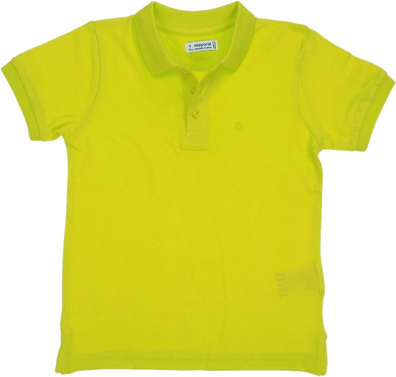 Mayoral - Basic s/s Polo for Boys - 0150, Broccoli