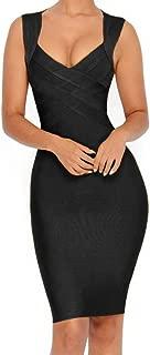 whoinshop Women's V-Neck Strapless Clubwear Bodycon Bandage Dress …