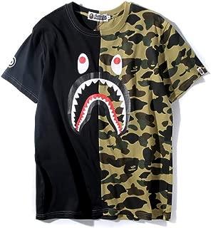 Bape Ape Camo Shark Teenage Adult T Shirts Fashion Casual Unisex Tees