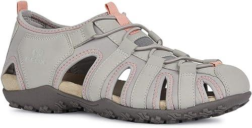 Geox Sandal Sandal Sandal STREL D9225A Femme Sandales,Sandales de Trekking,Dame Sandale extérieure,Sandale de Sport,à Bout fermé 13c